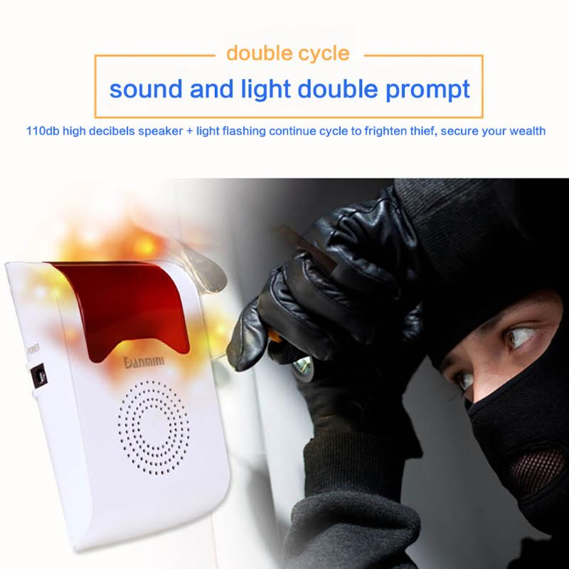 DC12V Wireless Voice Prompt Home Burglar Security Alarm Live Alarm Security System Remote Control Door Bell Infrared DetectorDC12V Wireless Voice Prompt Home Burglar Security Alarm Live Alarm Security System Remote Control Door Bell Infrared Detector