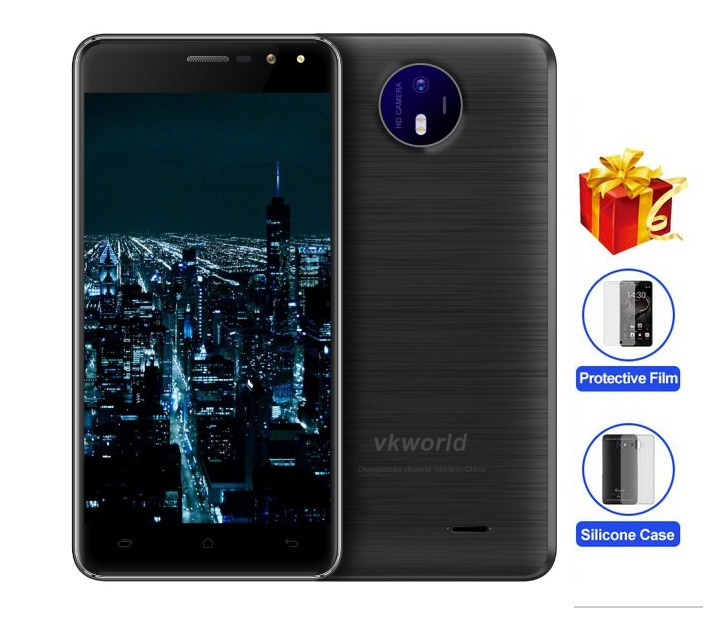 "Original VKworld F2 Mobile Phone 1280*720 5.0""HD IPS MTK6580A Quad Core Android 6.0 2GB RAM 16GB ROM 8MP 3G WCDMA smartphone"