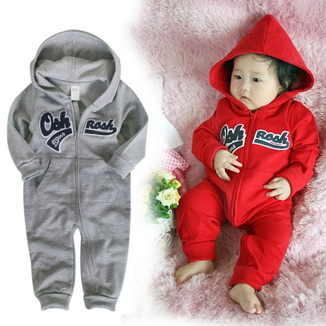 78810296b HOT baby overalls fashion zipper newborn winter clothes baby boys ...