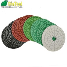 8pcs 4 Diamond flexible Wet polishing pad for stone, white bond, Dia 100mm  Sanding discs