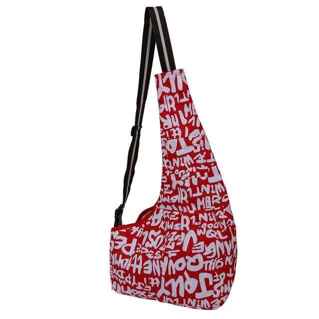 Hot Red White Sling Kennel Cat Dog Toto Single Shoulder Bag L-in Dog ...