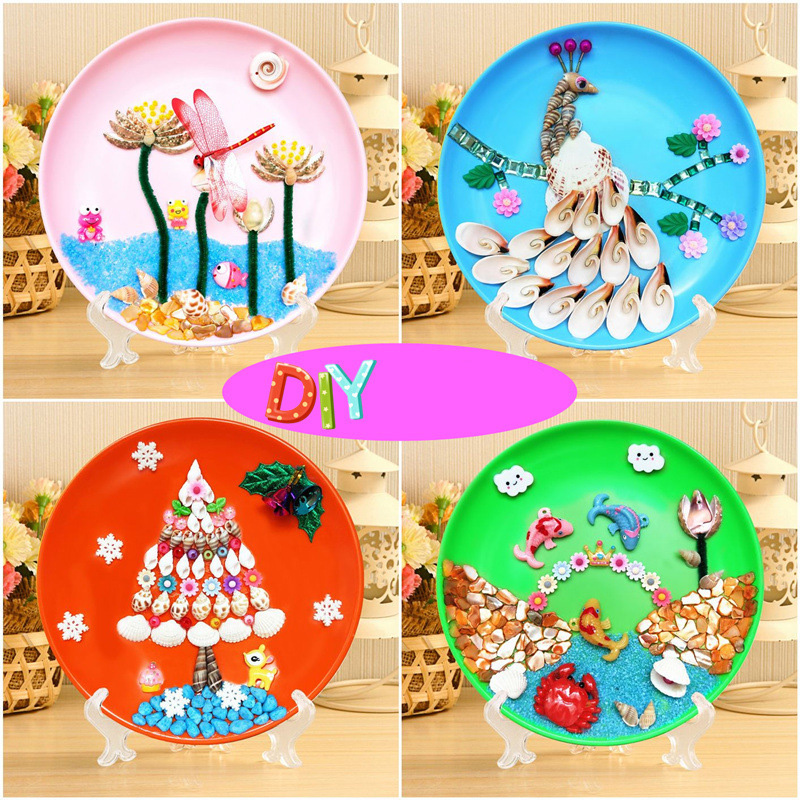 Puzzle Games DIY Shell Puzzle Painting Educational Toys 3D Diamond Painting Embroidery Intelligence Game Toys for Kids/Adult