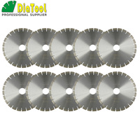 DIATOOL 10pcs/pk 370mm/14inch Diamond Silent Saw Blades wet cutting Disc Bore 60MM Sandwich Steel core for granite thickness 3MM