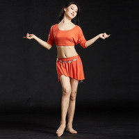 2018 Belly Dance Costume 2 Photos Ensemble Blouse Top & Vague Jupe Robe 8 Couleurs