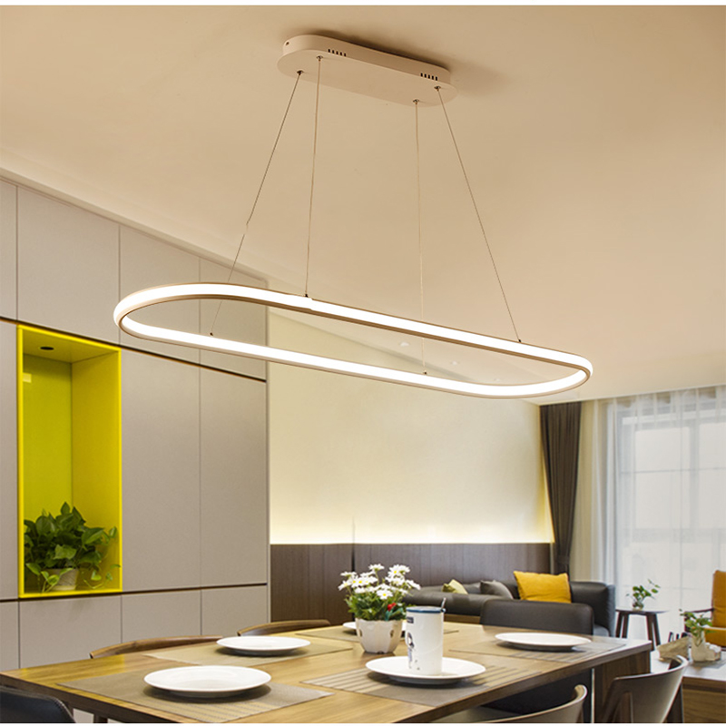 Double Glow Living Dining Kitchen Room Led Chandelier High Brightness Aluminum Modern Led Chandeliers Fixtures Free