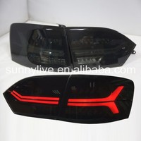 For VW New Jetta led tail lamp 2012 Red Running led turning light Smoke YZ