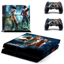 лучшая цена Jump Force One Piece Dragon Naruto PS4 Skin Sticker Decal Vinyl for Sony Playstation 4 Console and Controllers PS4 Skin Sticker