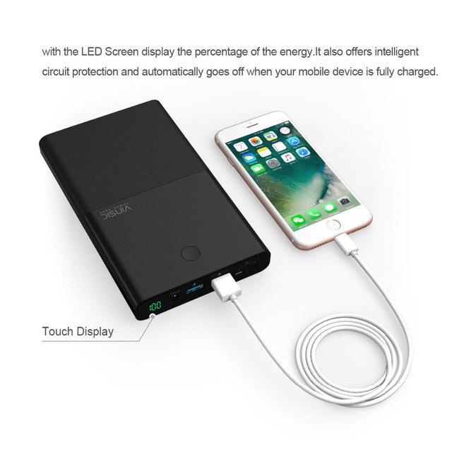 2017 Più Nuovo 30000 mAh Grande Capacità della Banca di Potere Del Telefono Tablet Caricabatteria Esterno Con Doppia Porta USB Super-Resistente