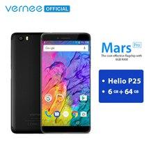 Vernee Mars Pro 6 GB 64 GB Telefon MTK6757 Helio P25 Octa çekirdek Smartphone 13.0MP Kamera Android 7.0 5.5