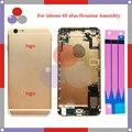 Высокое качество Для IPhone 6 S Plus Полный Жилищно Ассамблея Задняя Крышка Батареи с Sim-карты Лоток + Кнопки + Flex Кабели