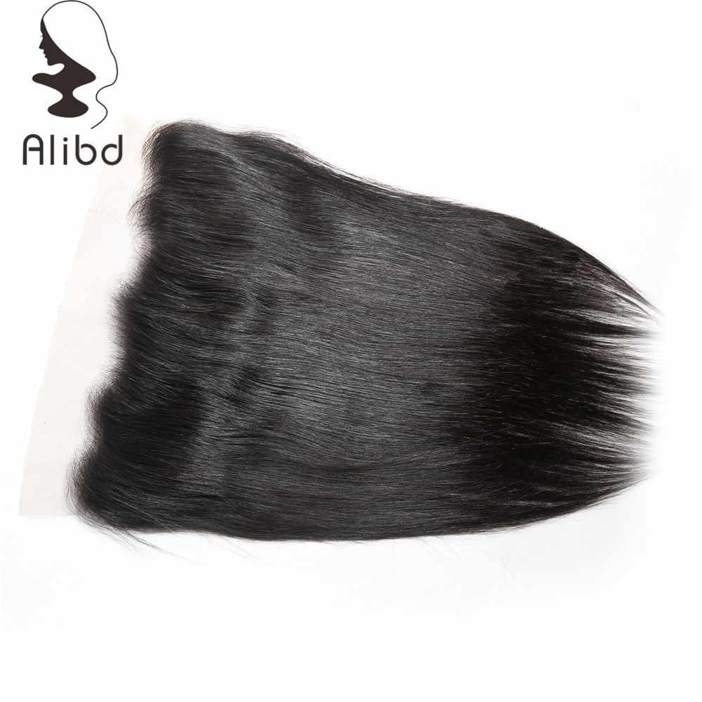 Alibd Dantel Frontal Kapatma 13X4 ile Bebek Saç Brezilyalı Düz Remy Insan Saçı Dantel Kapatma Doğal Renk Ücretsiz kargo
