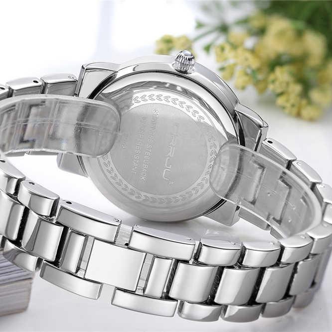 Лидирующий бренд Crrju женские часы женские кварцевые часы женские серебряные из нержавеющей стали модные повседневные наручные часы в подарок Montre Femme