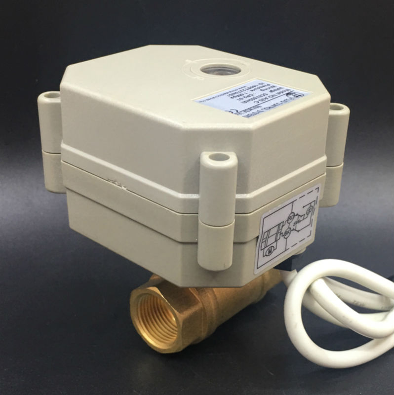 DC12V DC24V Regulating Valve TFM10-B2-C New 2 Way Brass DN10 3/8'' Signal 0-5V 0-10V or 4-20mA For Water Proportional Control