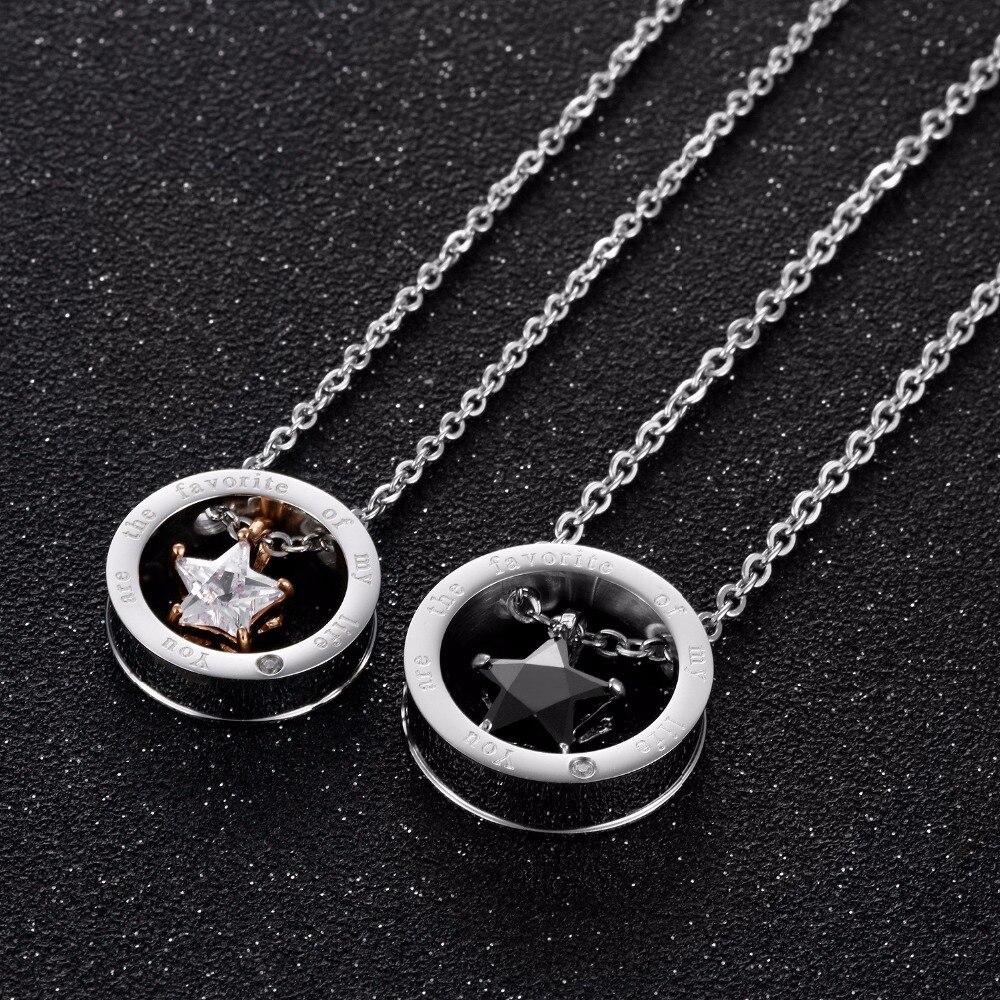 Купить 2020 ювелирные изделия ожерелья для влюбленных с белой фотозвездой
