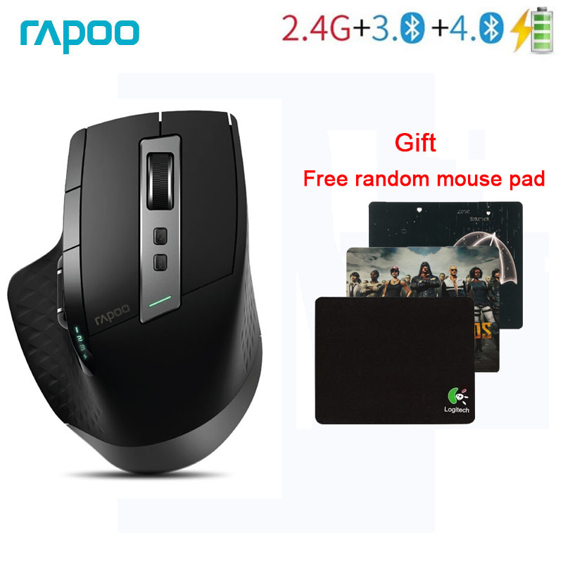 Rapoo MT750S Multi Mode Wireless Mouse Switch between Bluetooth and 2 4G For Four Devices Connection