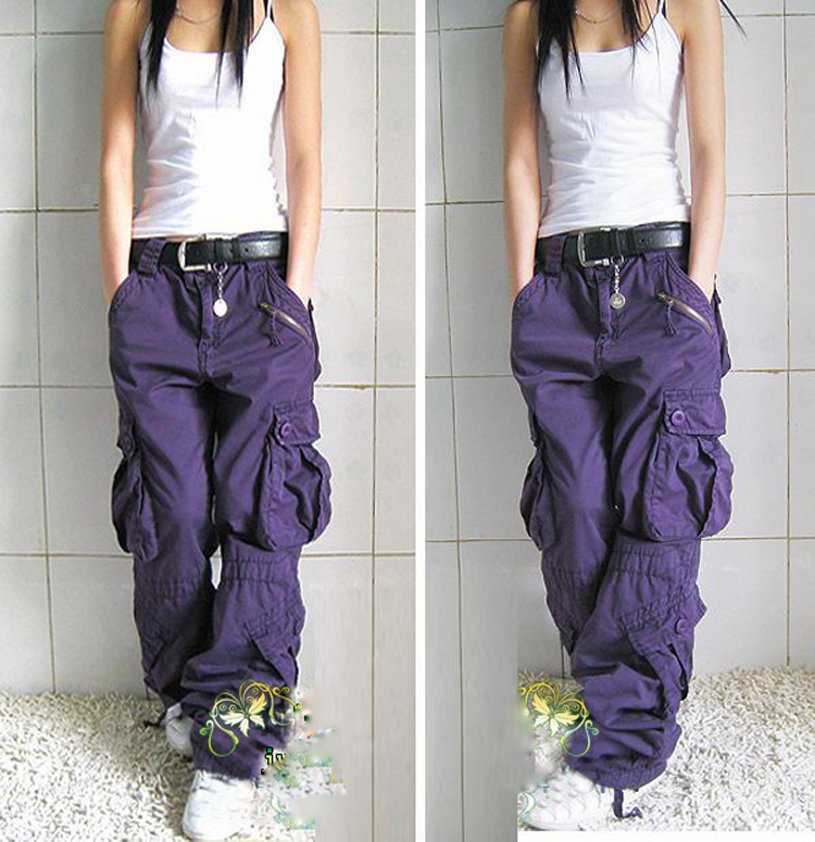 2017 Livraison Gratuite Nouvelle Arrivée Plus La Taille 5 Couleurs Cargo Pantalon Amateurs De Mode Hip Hop Lâche Jeans Baggy Pantalon Pour femmes