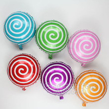 The new arrival 50pcs/lot  aluminum foil balloons scroll globos candy color ballon for wedding birthday party supplies