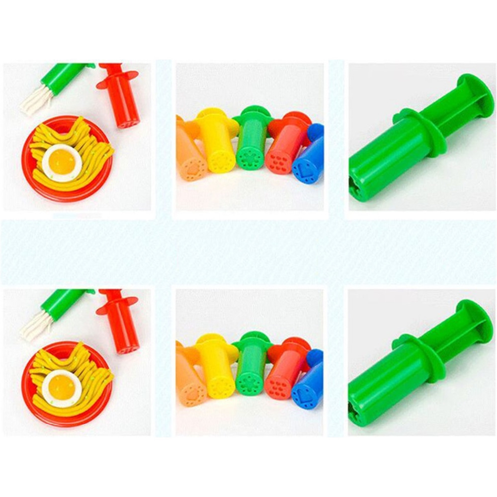 Modeling Clay/Slime 5 pcs/set Plasticine Mold/Tools Syringes shape Learning  Educational Funny Toy Multi color Colorful gifts