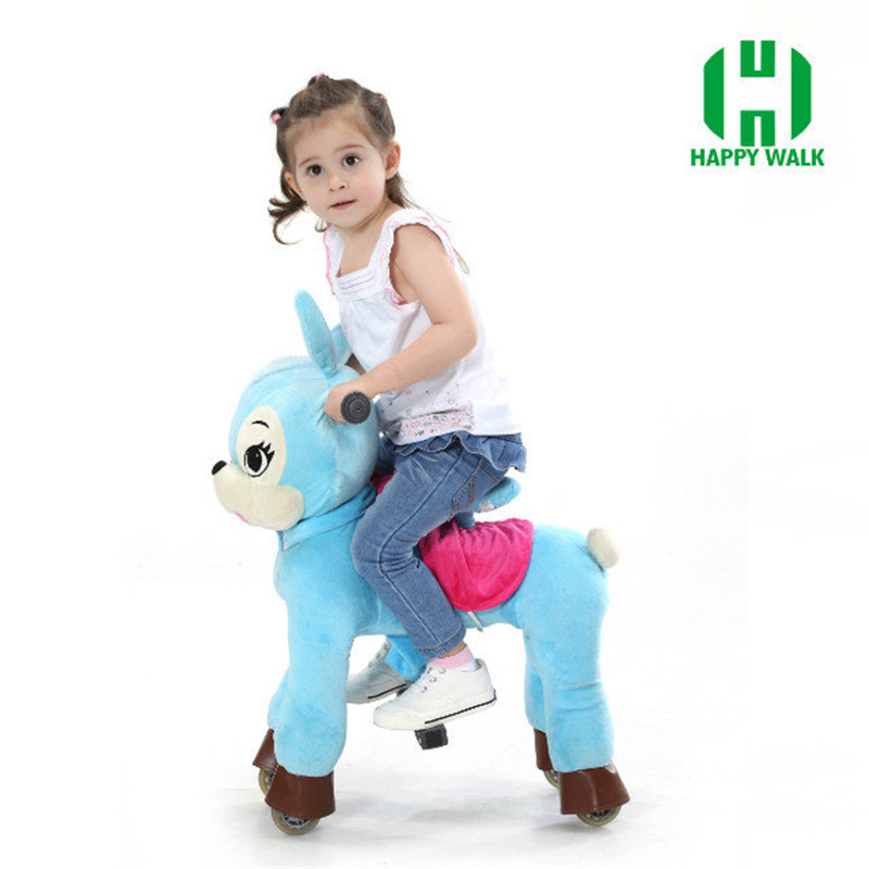 Top Ride On Toys Best Price Hi Ce Walking Mechanical Horse Riding Pony Foal Toy Cavalos Brinquedos Blue Rabbit Boy Girl Kid Gift