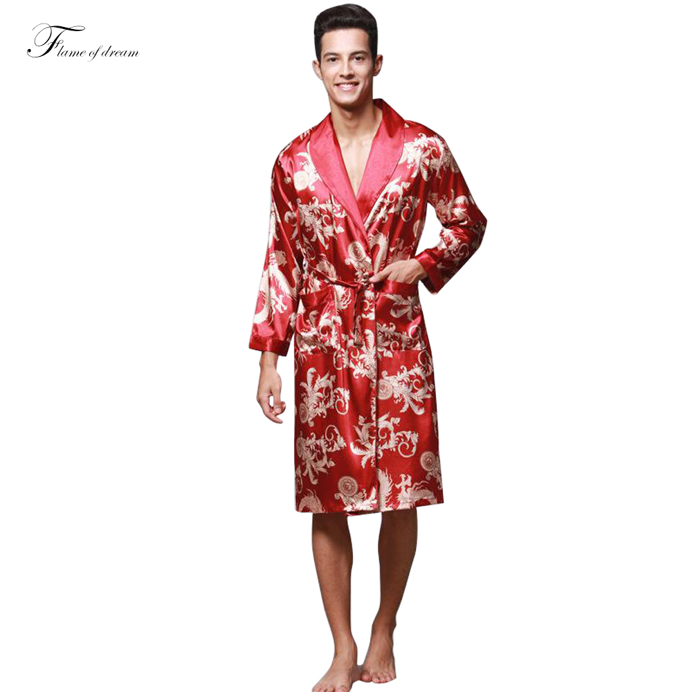 faux silk robe men mens robe bathrobe for man bathrobe for men men chinese faux silk - Mens Bathrobes