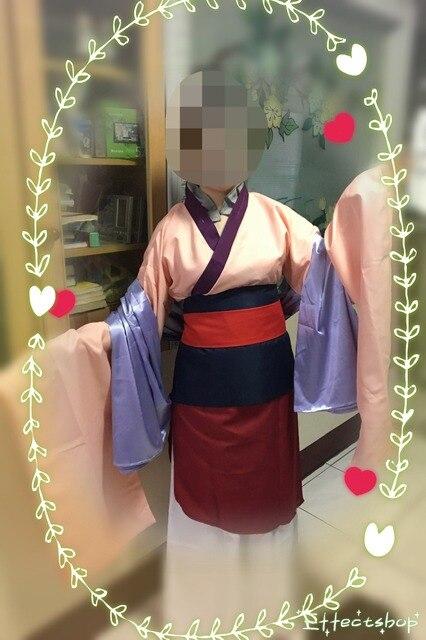 Hua Mulan Dress Blue Dress Princess Dress Movie Cosplay Costume Custom Made 1