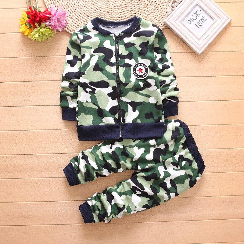 Детская одежда осень-зима камуфляж толще для маленьких мальчиков комплект одежды для маленьких мальчиков одежда Бутик Дети Костюм