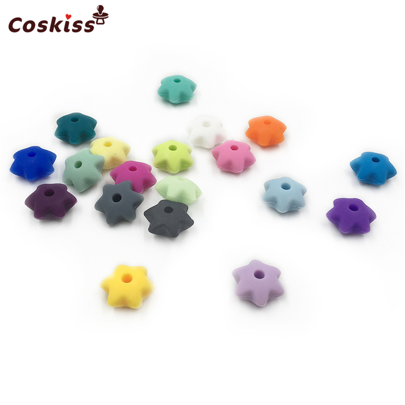 Mixed Color 1.2*0.6cm(0.47*0.23inch) Food Grade Silicone Gear Bead For Baby Silicone Teether DIY Baby Teether Bracelet Accessory