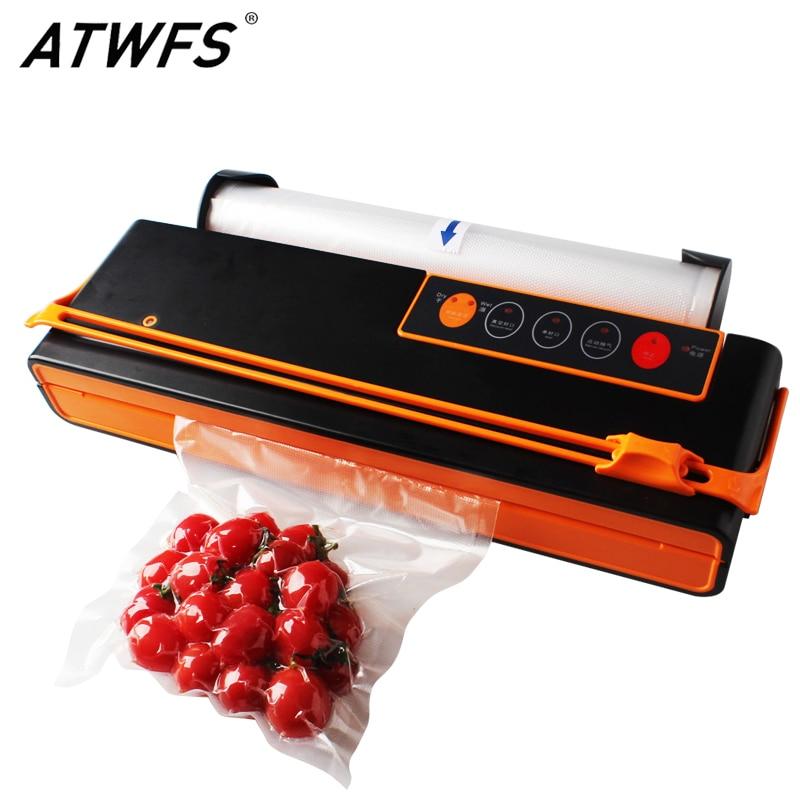 ATWFS Vacuum Sealer Sealing Machine Packing Machine Packaging Food Saver Automatic Cutting Vacuum Bag 10pcs for