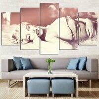 Marilyn Monroe Poster 5 Panels Canvas Print Home Wall Decor No Frame