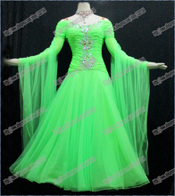 Modern Waltz Tango Ballroom Dance Dress, Smooth Ballroom Dress,Standard Ballroom Dress Girls BD-005
