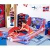 Giantex Kids Airplane Toddler Bed Children Bedroom Furniture Boys And Girls Colorful Modern Furniture HW57012