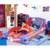 Giantex Kids Airplane Toddler Bed Children Bedroom Furniture Boys and Girls Colorful Modern furniture HW57012