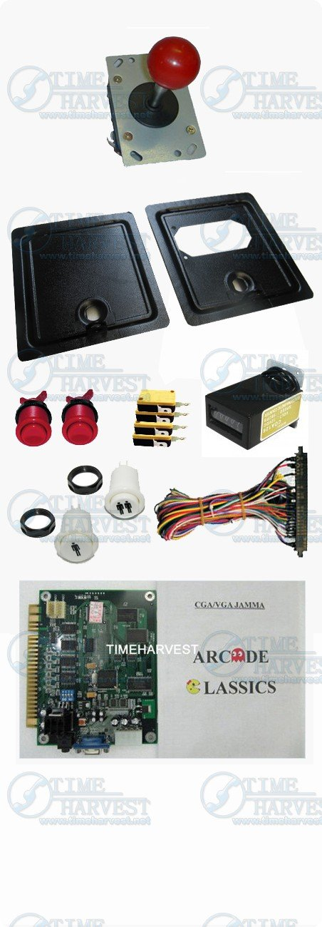 DIY Arcade parts Bundles kits With Joystick Push button Microswitch Coin door Jamma harness for Arcade Machine/Game cabinet sanwa button and joystick use in video game console with multi games 520 in 1