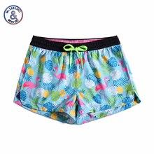 Women Summer Shorts Casual Drawstring Waistband Flamingo print Beach Style Swim Pool with Pocket Loose Female Shorts