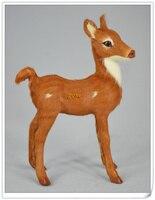 Simulation Animal About 15x11cm Reindeer Toy Polyethylene Furs Resin Sika Deer Handicraft Props Decoration Gift D0216