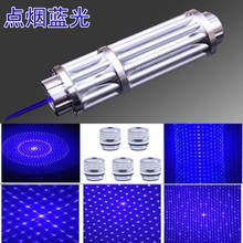 High Power blue laser pointers 20000mw 20W 450nm adjustable focus burning match/pop balloon/burn cigarettes+Free glasses+box