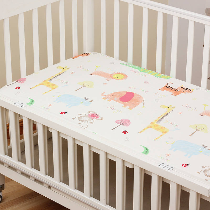1 Piece Cotton Crib Fitted Sheet For Newborns Cot Mattress Elastic Cover Anti-dirty Bed Sheet Baby Boys Girls Bedding 15 Colors