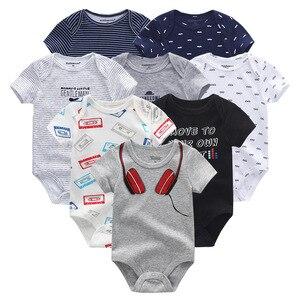 Image 4 - 2020 Baby Boy Clothes Unisex 8PCS/Lot New Born Baby Clothes Bodysuit Unicorn Cotton Baby Girl Clothes Roupa de bebe