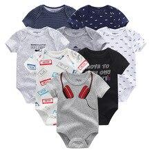 8 sztuk/partia Unisex Baby Boy ubrania dziewczyna sukienka body dziewczyny odzież dla dzieci jednorożec bawełna dziewczynka ubrania Roupas de bebe