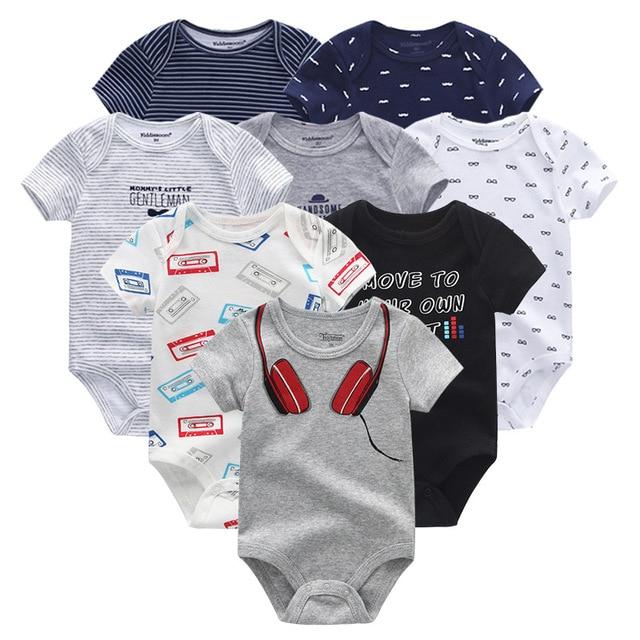 8 шт./лот унисекс Одежда для маленьких мальчиков, платье для девочек, боди, одежда для девочек, одежда для малышей с единорогом, хлопковая одежда для маленьких девочек, детская одежда