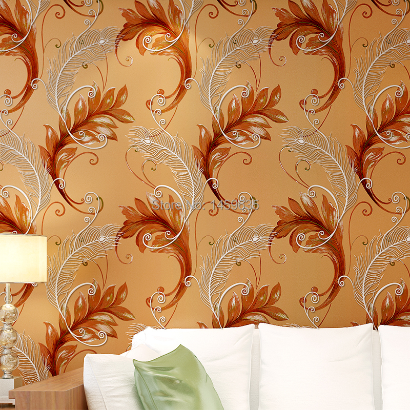 2016 Rushed Papel Pintado Photo Wallpaper Southeast Thicker Non Woven 3d Bedroom Tv Backdrop Elegant Peacock Feather In Wallpapers From Home