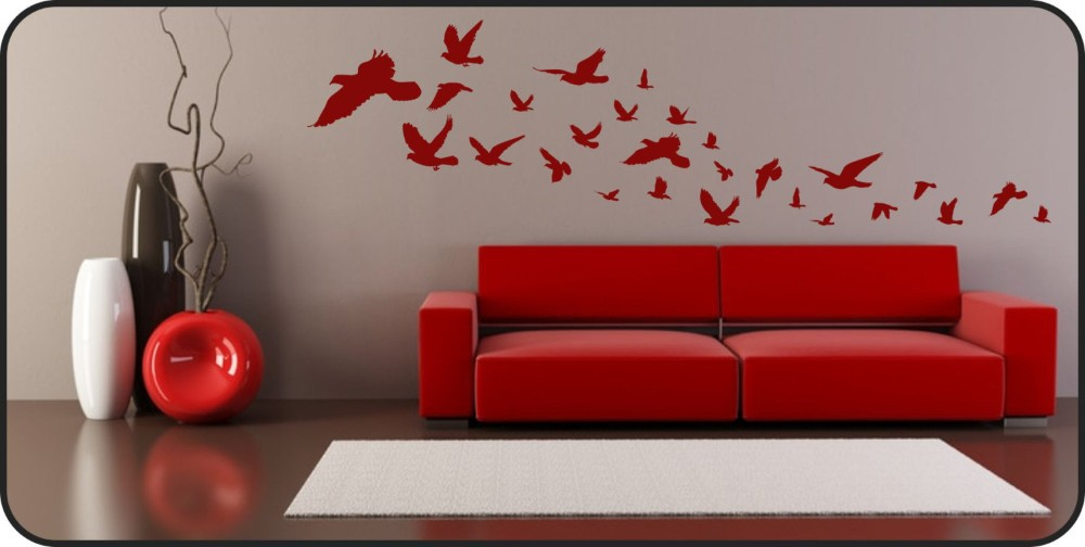 flying birds wall decal vinyl wall art wall stickers removable