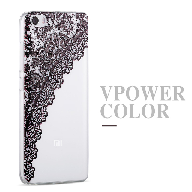 for xiaomi mi5 case Vpower 3D Relief Print cartoon back soft Cover Case house + screen protector for xiao mi mi5