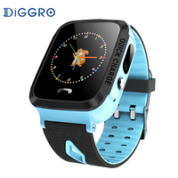 Diggro V5G Kids GPS Smart Watch LBS MTK6261D 1.44 inch Color Screen Remote Camera IP67 Waterproof Smart Watches With Math Games