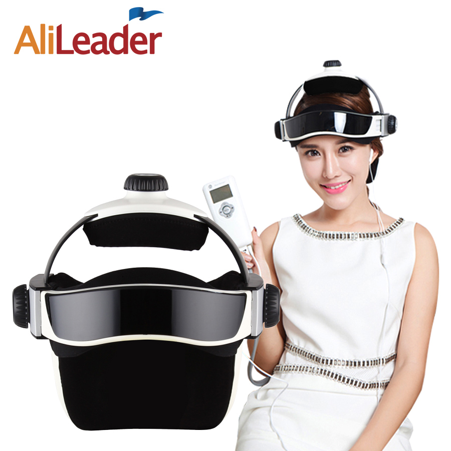 AliLeader Head Massager Brain Relaxing Pressure Relieve Body Health Products Magnetic Therapy Machine Massager Helmet Fitness