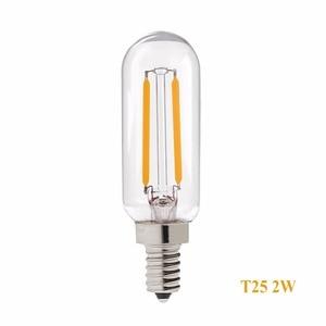 Image 3 - Grensk T8 2W 4W ניתן לעמעום Led אורות הנורה T25 צינורי רדיו LED נימה הנורה E12 110V E14 220V חם לבן 2700K מנורת אמפולה led