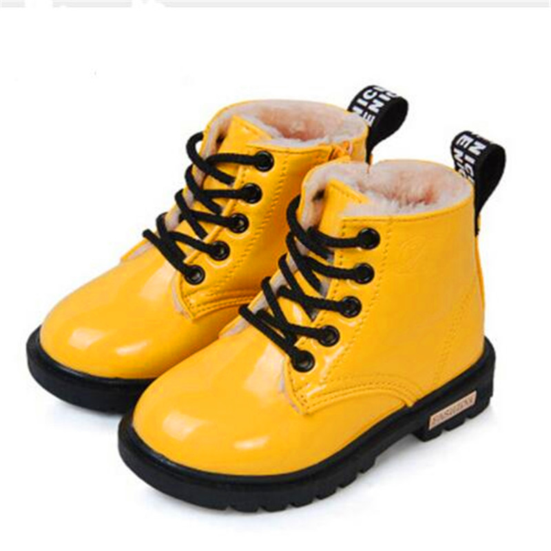 6b8fc432e98 Hot Recommend Kids Shoes girls Boys PU Leather Lace Up High Children  Sneakers girl Baby Shoes