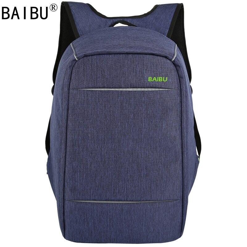 BAIBU NEW MEN design Anti-theft USB Charging Travel Backpack Men Women school bag Large 15.6 Laptop bagBAIBU NEW MEN design Anti-theft USB Charging Travel Backpack Men Women school bag Large 15.6 Laptop bag