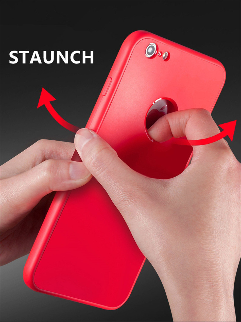 VTR 360 Full body Soft silicone protective cover for iPhone 8 7 7 plus case Shockproof back cases for Phone  6 6s plus shell bag6