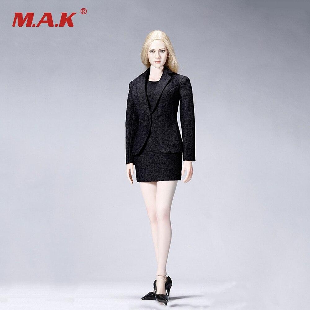 Ensemble chemise et jupe sans manches à l'échelle 1/6 pour accessoires de figurine femme